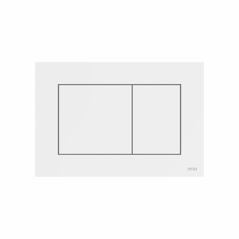 Placca di comando TECE bianca WC per tecnologia a doppio scarico art. 9240400