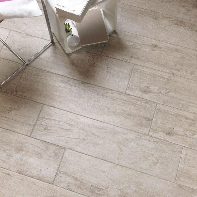 Estremamente Gres smalatato rettificato effetto legno Bianco Tikal 20X120 Abitare LC27