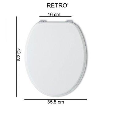 Sedile Bianco per WC Retro'...