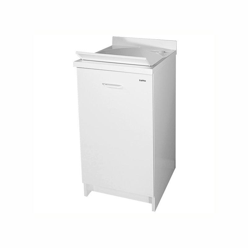 Mobile lavatoio vasca in termoplastico 45x50x85 cm cerniere a sinistra Edilla Montegrappa