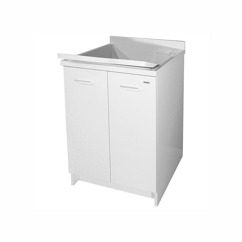 Mobile lavatoio con vasca in termoplastico 60x50x85 cm Edilla Montegrappa