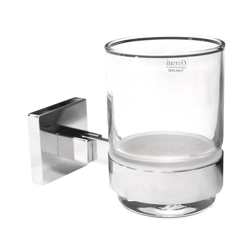 Portaspazzolino con Bicchiere in Vetro serie Elena Spazio