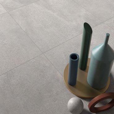 Gres porcellanato rettificato naturale tutta massa Blend Ash 60 x 60 ABK