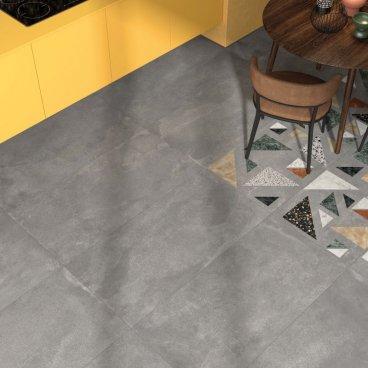Gres porcellanato rettificato naturale tutta massa Blend Grey 60 x 60 ABK
