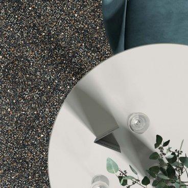 Gres porcellanato rettificato naturale tutta massa Blend Dots Multiblack 90 x 90 ABK