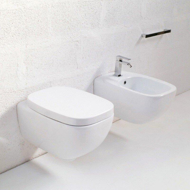 WC Sospeso Dial Bianco Hidra art. DLW10 Coprivaso avvolgente non ammortizzato incluso
