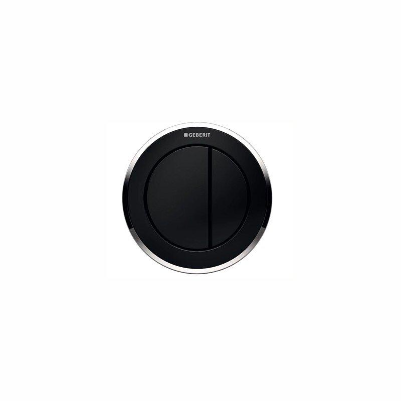 Comando a distanza bianco nero cromo Geberit tipo 10, pneumatico, per risciacquo a due quantità